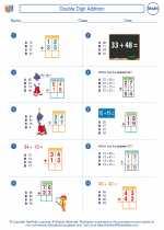 Mathematics - Third Grade - Worksheet: Double Digit Addition