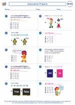 Mathematics - Third Grade - Worksheet: Associative Property