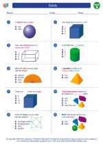 Mathematics - Second Grade - Worksheet: Solids