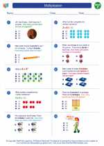 Mathematics - Third Grade - Worksheet: Multiplication