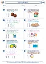 Mathematics - Third Grade - Worksheet: Word Problems