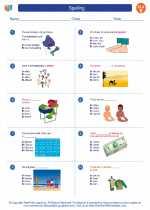 English Language Arts - Fifth Grade - Worksheet: Spelling
