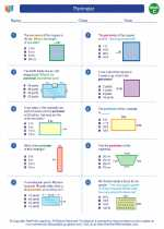 Mathematics - Third Grade - Worksheet: Perimeter