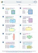Mathematics - Third Grade - Worksheet: Perimeter