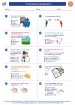 English Language Arts - Fifth Grade - Worksheet: Punctuation/Capitalization