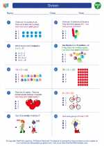 Mathematics - Third Grade - Worksheet: Division