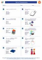 English Language Arts - Fifth Grade - Worksheet: Genre Characteristics