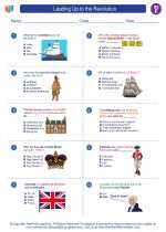 Social Studies - Fifth Grade - Worksheet: Leading Up to the Revolution