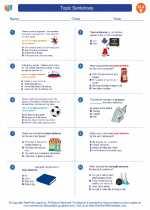 English Language Arts - Fifth Grade - Worksheet: Topic Sentences
