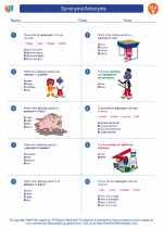 English Language Arts - Fifth Grade - Worksheet: Synonyms/Antonyms