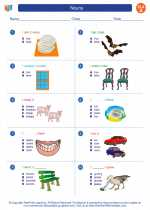 English Language Arts - First Grade - Worksheet: Nouns