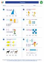 Mathematics - Fourth Grade - Worksheet: Fractions
