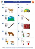 English Language Arts - First Grade - Worksheet: Short Vowel Sound