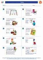 English Language Arts - Fifth Grade - Worksheet: Verbs
