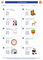 English Language Arts - Second Grade - Worksheet: oo Vowel Sound