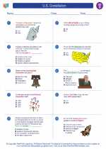 Social Studies - Fourth Grade - Worksheet: U.S. Constitution