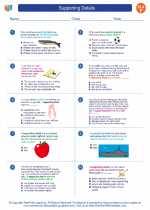 English Language Arts - Sixth Grade - Worksheet: Supporting Details