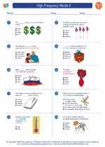 English Language Arts - Sixth Grade - Worksheet: High Frequency Words II