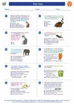 English Language Arts - Sixth Grade - Worksheet: Main Idea