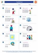 English Language Arts - First Grade - Worksheet: Capitalizing I