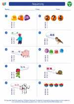 Mathematics - First Grade - Worksheet: Sequencing