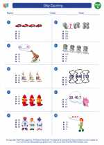 Mathematics - First Grade - Worksheet: Skip Counting