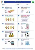 Mathematics - Third Grade - Worksheet: Temperature