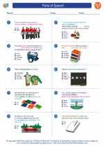 English Language Arts - Sixth Grade - Worksheet: Parts of Speech