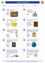 English Language Arts - Sixth Grade - Worksheet: Identify Perspectives
