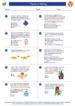 English Language Arts - Fifth Grade - Worksheet: Theme of Writing