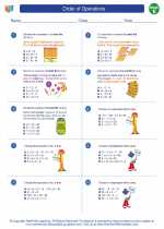 Mathematics - Fifth Grade - Worksheet: Order of Operations