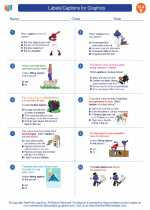 English Language Arts - Fifth Grade - Worksheet: Labels/Captions for Graphics