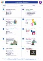 Social Studies - Sixth Grade - Worksheet: Progressive Movement