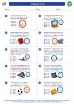Mathematics - Fifth Grade - Worksheet: Elapsed Time