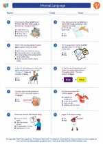English Language Arts - Fifth Grade - Worksheet: Informal Language