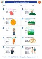 English Language Arts - Sixth Grade - Worksheet: Syllables/Spelling Patterns