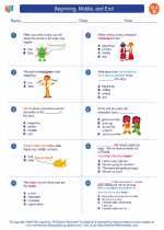 English Language Arts - Second Grade - Worksheet: Beginning, Middle, and End