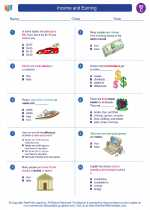 Social Studies - Third Grade - Worksheet: Income and Earning