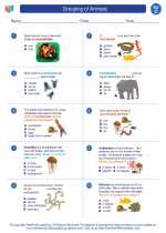 Science - Third Grade - Worksheet: Grouping of Animals