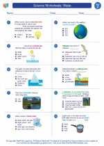 Science - Third Grade - Worksheet: Water