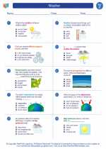 Science - Third Grade - Worksheet: Weather