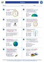Science - Third Grade - Worksheet: Weather