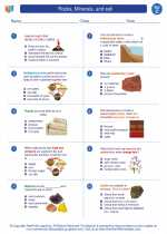 Science - Third Grade - Worksheet: Rocks, Minerals, and soil