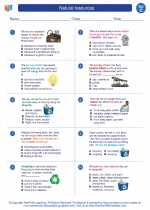 Science - Third Grade - Worksheet: Natural resources