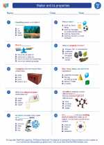 Science - Third Grade - Worksheet: Matter and its properties