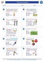 Science - Third Grade - Worksheet: Work and machines