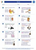 Science - Third Grade - Worksheet: Sound
