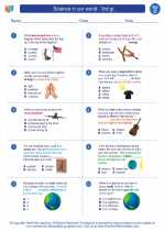 Science - Third Grade - Worksheet: Science in our world - 3rd gr.