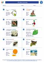Science - First Grade - Worksheet: All about animals