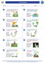 Science - First Grade - Worksheet: Food Chains